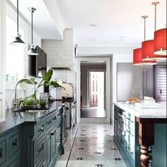 Spotted! We love the mix of materials (including Rejuvenation's Willis pendants) used in the renovation of Bob Williams' (of Mitchell Gold + Bob Williams) home recently featured in Traditional Home.