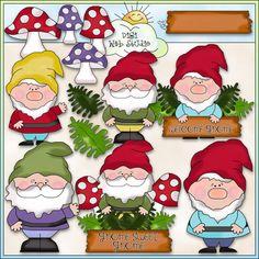 Gnome Sweet Gnome 1 - NE Cheryl Seslar Clip Art : Digi Web Studio, Clip Art, Printable Crafts & Digital Scrapbooking!