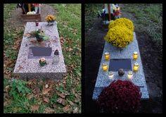 Custos - Opieka nad grobami Wrocław  Grób pojedynczy przed i po wykonaniu usługi