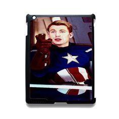 Steve Roger Captain America TATUM-10143 Apple Phonecase Cover For Ipad 2/3/4, Ipad Mini 2/3/4, Ipad Air, Ipad Air 2