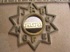 Vintage Star Post Office Box Doors Metal Brass
