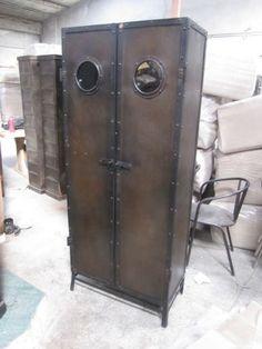 steampunk metal locker/pantry - with portholes!