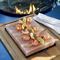 Here's a hot tip for preparing seafood, meat, vegetables and other fast-cooking foods. Also known as a salt tile or plate, this versatile block steps into play for everything from grilling to chilling, adding complex flavor and a hint of salt to all kinds of foods.