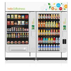 """PepsiCo recently announced their plan to launch a new food and beverage vending machine called """"Hello Goodness."""" In an effort to reverse the negative stigma placed on vending machines because of the notoriously unhealthy food they offer, these new vending machines will only feature PepsiCo products that are generally thought of as """"healthy."""" Some of the foods that will be seen in the Hello Goodness vending machine include Naked Juice, Smartfood"""