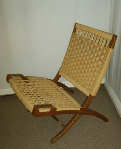 vintage ebert wels folding rope chair pinterest hans wegner mid