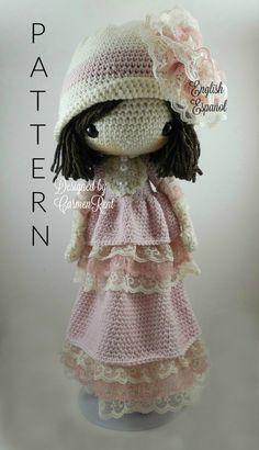 Dorle- Amigurumi Doll Crochet Pattern PDF by CarmenRent on Etsy https://www.etsy.com/listing/488106253/dorle-amigurumi-doll-crochet-pattern-pdf