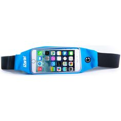 Blue running belt waist pack fits iPhone 7s Plus.   The iZarin® waist pack is the perfect solution to hold your smart phone and essential belongings safely when you are Nordic walking, trekking or running.