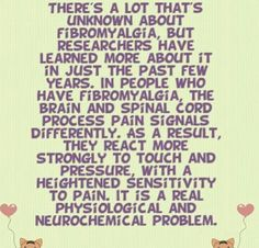 Fibromyalgia. (IE: My startle reflex is gonna launch me out of a chair one of these days!)
