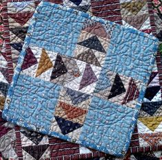 quiltsbycheri: the three little quilts. Small Quilts, Mini Quilts, Baby Quilts, My Sewing Room, Love Sewing, Flying Geese Quilt, Miniature Quilts, Doll Quilt, Quilted Table Runners