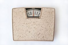 BORG Pink Bathroom Scale Working Vintage Bathroom Decor Gold Flecks. $22.00, via Etsy.