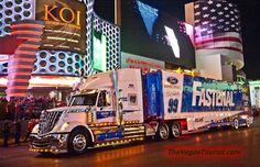 Two of my favorites - Corn Binders and Blue Ovals! The 2012 NASCAR hauler parade on the Strip on Thursday, March Nascar Trucks, Big Rig Trucks, Cool Trucks, Semi Trucks, Nascar Sprint Cup, Nascar Racing, Racing Team, Auto Racing, Las Vegas