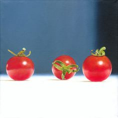 Hyperreal oil paintings by christoph eberle Still Life, Switzerland, Oil On Canvas, Paintings, Art, Hyperrealism, Painted Canvas, Tomatoes, Painting Art