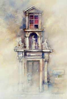 Architecture Art, Classical stone carving around ancient door. John Lovett