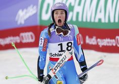Schladming, Austria Tina Maze of Slovenia reacts after learning that her competitor Lindsey Vonn of the U. did not complete the race, during the womens Super G race at the World Alpine Skiing Championships. Tina Maze, Lindsey Vonn, Tower Of Babel, Alpine Skiing, Pictures Of The Week, Sports Pictures, Female Athletes, Slovenia, American Football