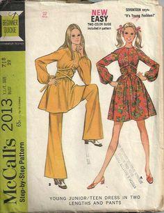 VTG Junior/Teen Bell Bottom Pants and Dress by DawnsDesignBoutique, $18.00