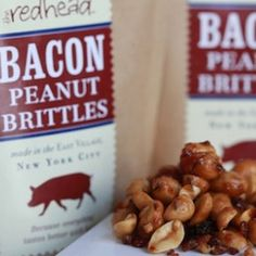 ... monthly package of the Redhead's maple-roasted Bacon Peanut Brittle