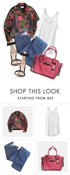 """Hello 😁"" by lidia-solymosi ❤ liked on Polyvore featuring prAna, Edwin, Coach and Gianvito Rossi"