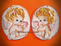 Baby angels cake topper by fondantfantasy