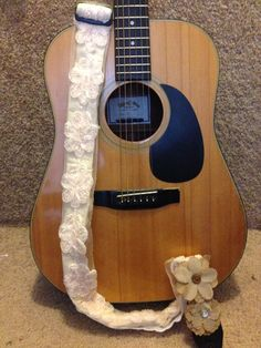 Adjustable Cream Guitar Strap by StrappingBri on Etsy, $30.00
