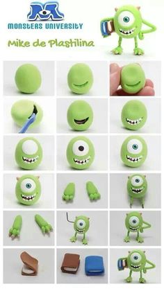 This is an adorable Mike from Monsters University! How cute, definitely going to try to make this little guy!