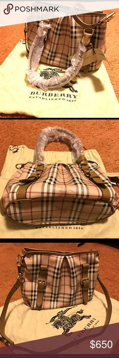 Burberry haymarket satchel I am reposting this bag. As the sell didn't go through last time. The bag has been authorized by Poshmark once. Burberry Bags Satchels