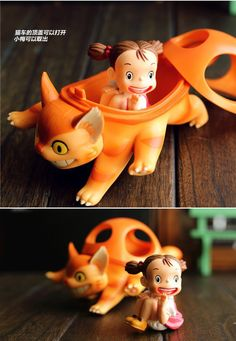 New 10 cm Tonari no Totoro Mei bus ride cat car Hayao Miyazaki classic animation PVC action figure model toys kids gift-in Action & Toy Figures from Toys & Hobbies on Aliexpress.com | Alibaba Group