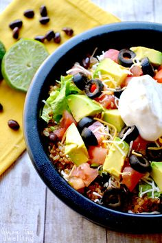 Quinoa Taco Bowls - a delicious, family friendly quinoa recipe!