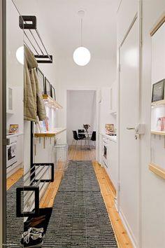 interiores espacios pequeños estilo nórdico decoración en blanco decoracion diseño interiores decoración cocinas cocinas pequeñas diseño dec...