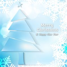 Light Blue Christmas Tree and Snowflakes Background Free Christmas Backgrounds, Winter Backgrounds, Free Vector Backgrounds, Blue Backgrounds, Vector Free, Christmas Background Vector, Merry Christmas And Happy New Year, Blue Christmas