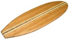 8. Totally Bamboo Surfboard Shaped Serving Board – Surfboards sale