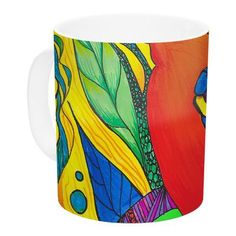 KESS InHouse Psycho-Delic Dan by Catherine Holcombe 11 oz. Ceramic Coffee Mug