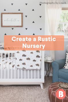 From wood-paneled walls to antler accents, we found the right ways to go rustic. Nursery Room, Girl Nursery, Nursery Decor, Nursery Ideas, Nursery Inspiration, Rustic Nursery, Nursery Neutral, Wood Panneling, Kids Room Art