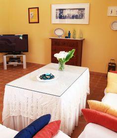 villa-la-debla-mesa-tv Andalusia, Private Pool, Table, Furniture, Home Decor, Campinas, Sevilla, Decoration Home, Room Decor