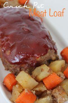 Crock pot meat loaf crock pot meatloaf, crockpot и crockpot Good Meatloaf Recipe, Meat Loaf Recipe Easy, Meatloaf Recipes, Meat Recipes, Cooking Recipes, Recipies, Pasta Recipes, Free Recipes, Healthy Crockpot Recipes