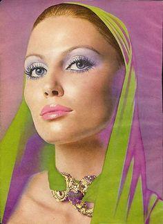 1970 REVLON Moon Drops AD~ALMONDINE EYE Make-Up~beauty   eBay