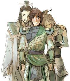 Zhuge Liang, Huang Yueying, and Jiang Wei