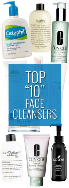 Top 10 Face Cleansers: These Cleansers Leave Skin Clean, Clear and Fresh.