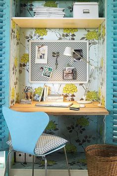 Wallpaper It - The Cloffice AKA The Ultimate Small Space Multitasker - Photos