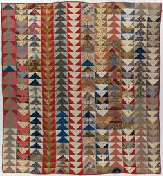 flying geese quilt by unknown maker 1890 - 1910                                                                                                                                                                                 More