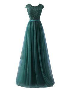 YipGrace Donna Tulle Eleganti Lunghi Ball Gown Abito In Pizzo: Amazon.it: Sport e tempo libero