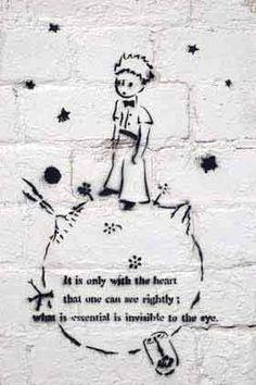 Antoine de Saint - Exupery - Le Petit Prince as street art...