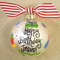 how to paint Christmas ornaments Jesus Birthday - Google Search