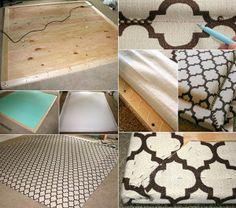 schlafzimmer-ideen-für-bett-kopfteil-selber-machen-aus-holzrahmen ... - Bettkopfteil Ideen Schlafzimmer