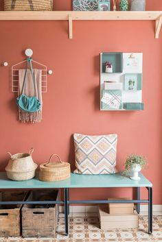 Storage colorful decor, room colors, my room, future house, g Hallway Decorating, Entryway Decor, Decorating Your Home, Home Design, Interior Design, Room Colors, House Colors, Home And Living, Living Room