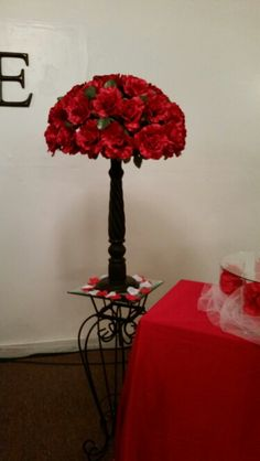 Red and Black Wedding centerpiece