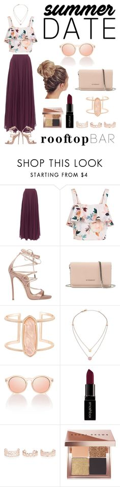 """""""Summe Date: Rooftop Bar (contest)"""" by haley-johnson001 ❤ liked on Polyvore featuring Halston Heritage, New Look, Dsquared2, Givenchy, Kendra Scott, Michael Kors, Smashbox and Bobbi Brown Cosmetics"""