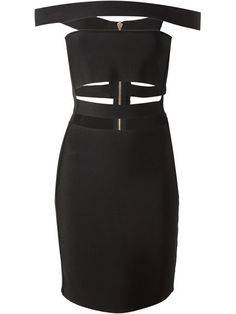 Balmain Cut Out Pencil Dress - Eraldo - Farfetch.com
