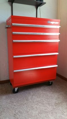 My sons old dresser redone to look like a snap-on tool box