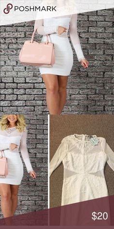 Dress from shophopes.com. Tags still on! Beautiful white dress. Great for date night! Dresses Long Sleeve