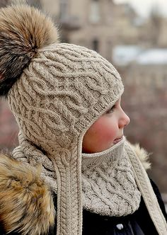 """diy_crafts-Ravelry: Winter Adventure Snood pattern by Pelykh Natalie """"Winter Adventure Snood complements Winter Adventure and Bonvoyage Hats. Knitting For Kids, Crochet For Kids, Loom Knitting, Baby Knitting, Crochet Baby, Knitting Patterns, Crochet Patterns, Hat Patterns, Bonnet Crochet"""